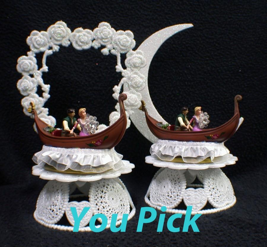disney fairytale wedding cake server tangle rapunzel musical disney wedding cake topper 13552