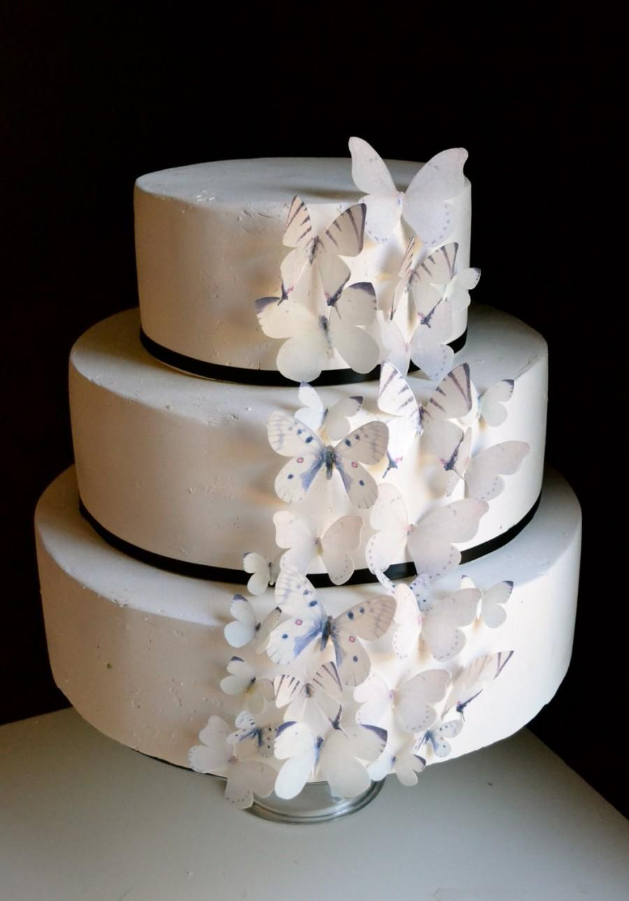 natural wedding cake toppers wedding cake topper wedding cake edible butterflies 17721