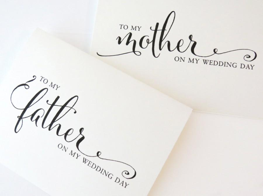 To My Mother On Wedding Day Dad Mom Pas Set Of 2 Wcp02