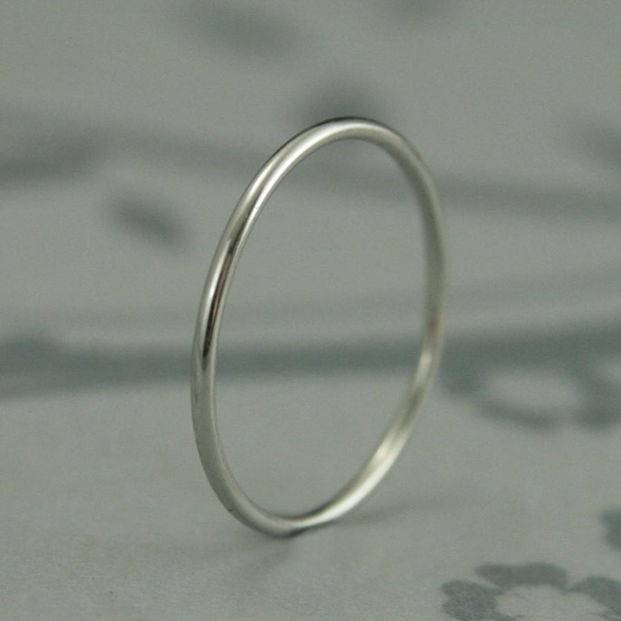 Just Like Mila Kunis Ring Thin Platinum Band Roll Me Round Solid 1mm Full
