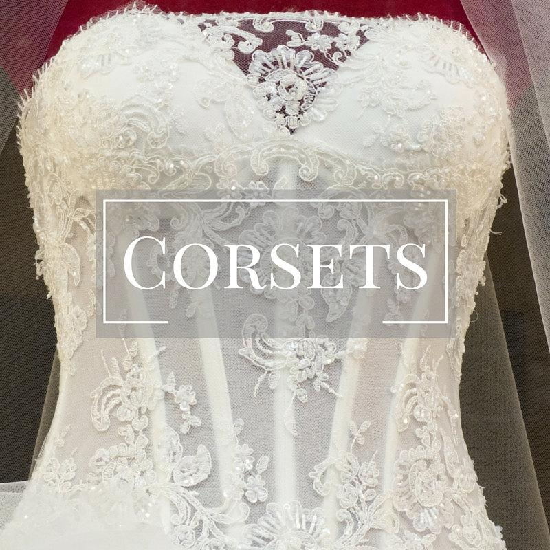 Corset Wedding Dress Bridal Gown Bustier Boned