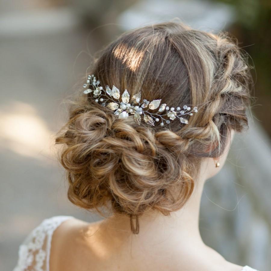 bridal hair comb wedding hair comb leaves bridal hair comb bridal