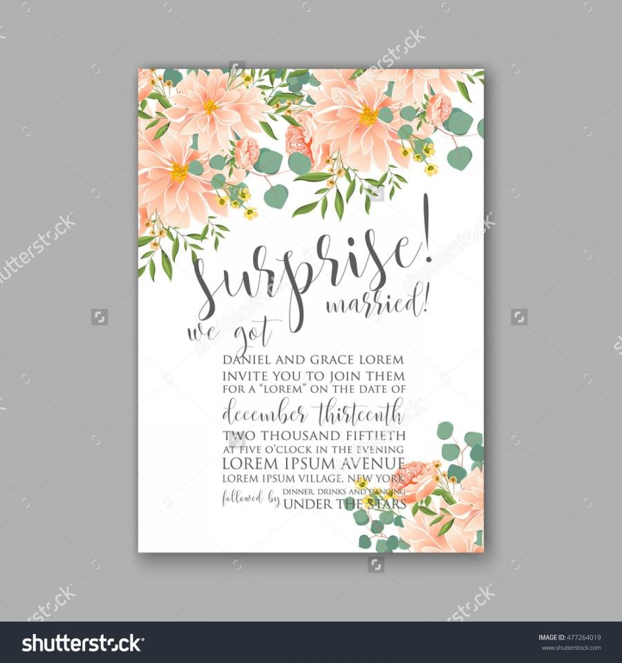 Wedding Invitation Or Card With Tropical Floral Background