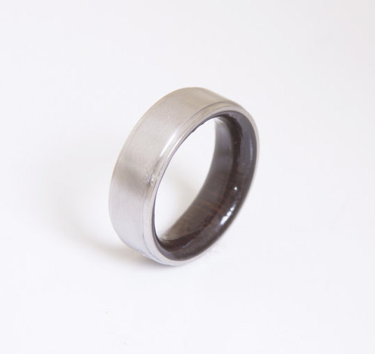 Mens Wood Wedding Band Anium Ring Armor Waterproofing Included Alternative