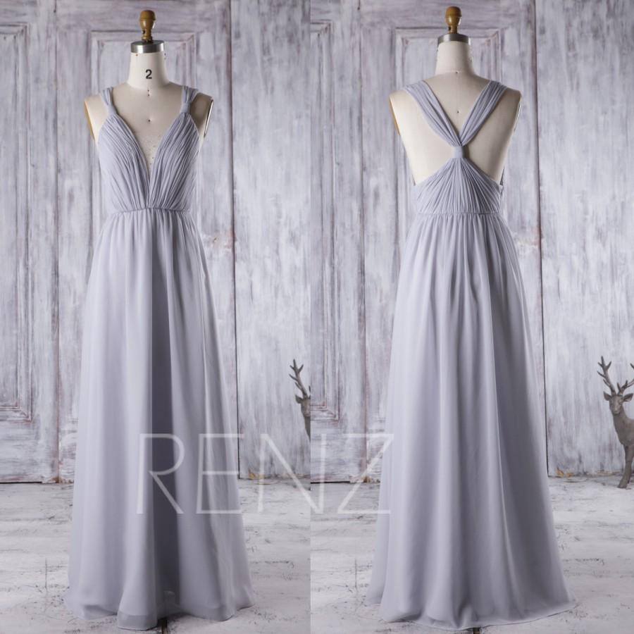 light gray wedding dress 2016 light gray bridesmaid dress v neck wedding 5523