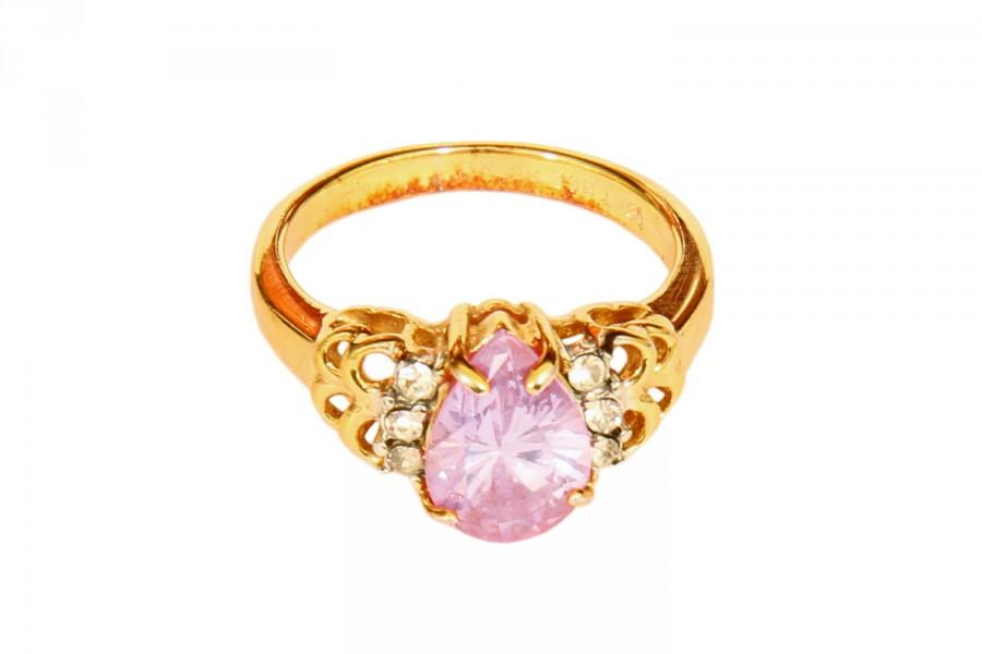 Well known Sparkling Engagement Ring, RING 18KT HGE Ring With Lavender Pear  GM95