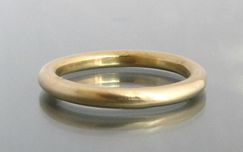 Simple Wedding Band Gold Thin Ring Bands Women Mens 14k Yellow