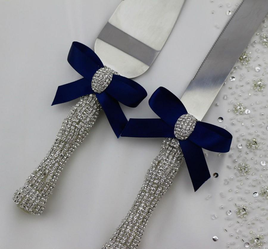 bling wedding cake cutting set your color wedding cake knife and server set 11924