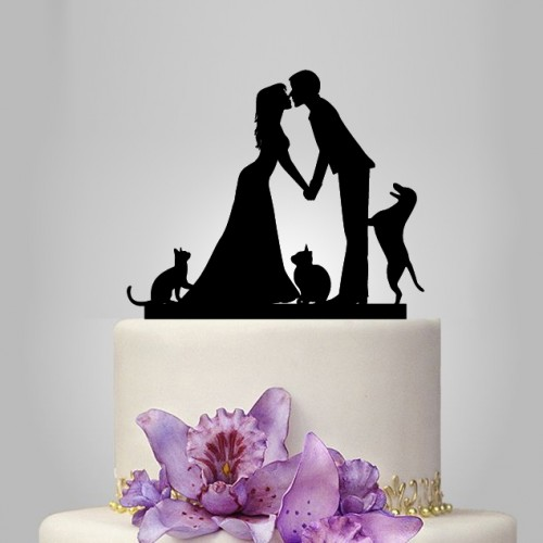addams family wedding cake topper wedding cake topper with and 2 cats and 10540
