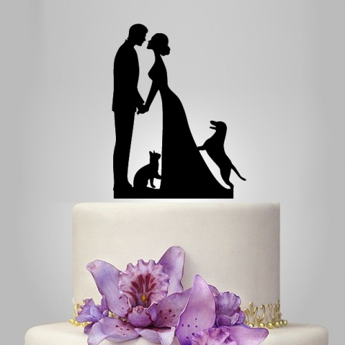 wedding cake topper cat and dog wedding cake topper with and cat unique and 26306