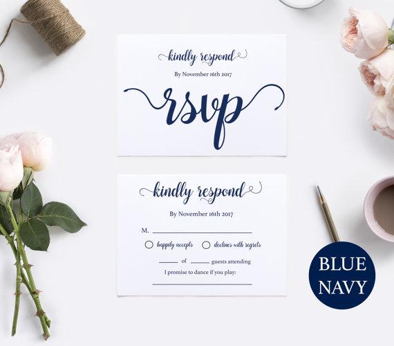 Favorite RSVP Postcard Template - RSVP Template - Wedding Rsvp Postcards  BM83
