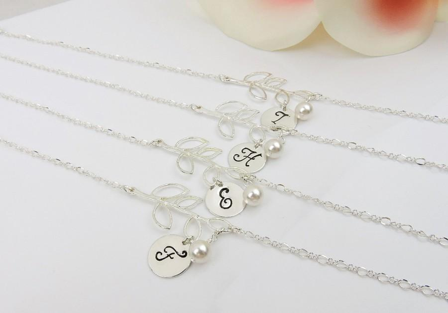 Set Of 4 Personalized Branch Bridesmaid Bracelets Gifts Bracelet Free Us Shipping