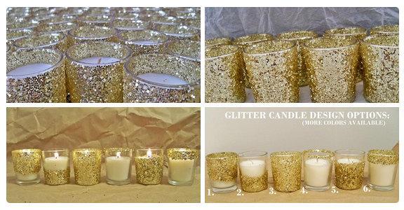 25 Votives Votive Candle Holder Wedding Centerpiece Decorations Gold Favors Decor