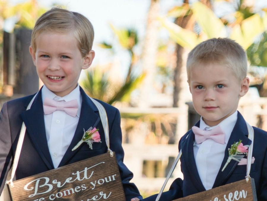 Blush Linen Bow Tie Pink Boy S Bowtie Festive Outfit Wedding Ring Bearer