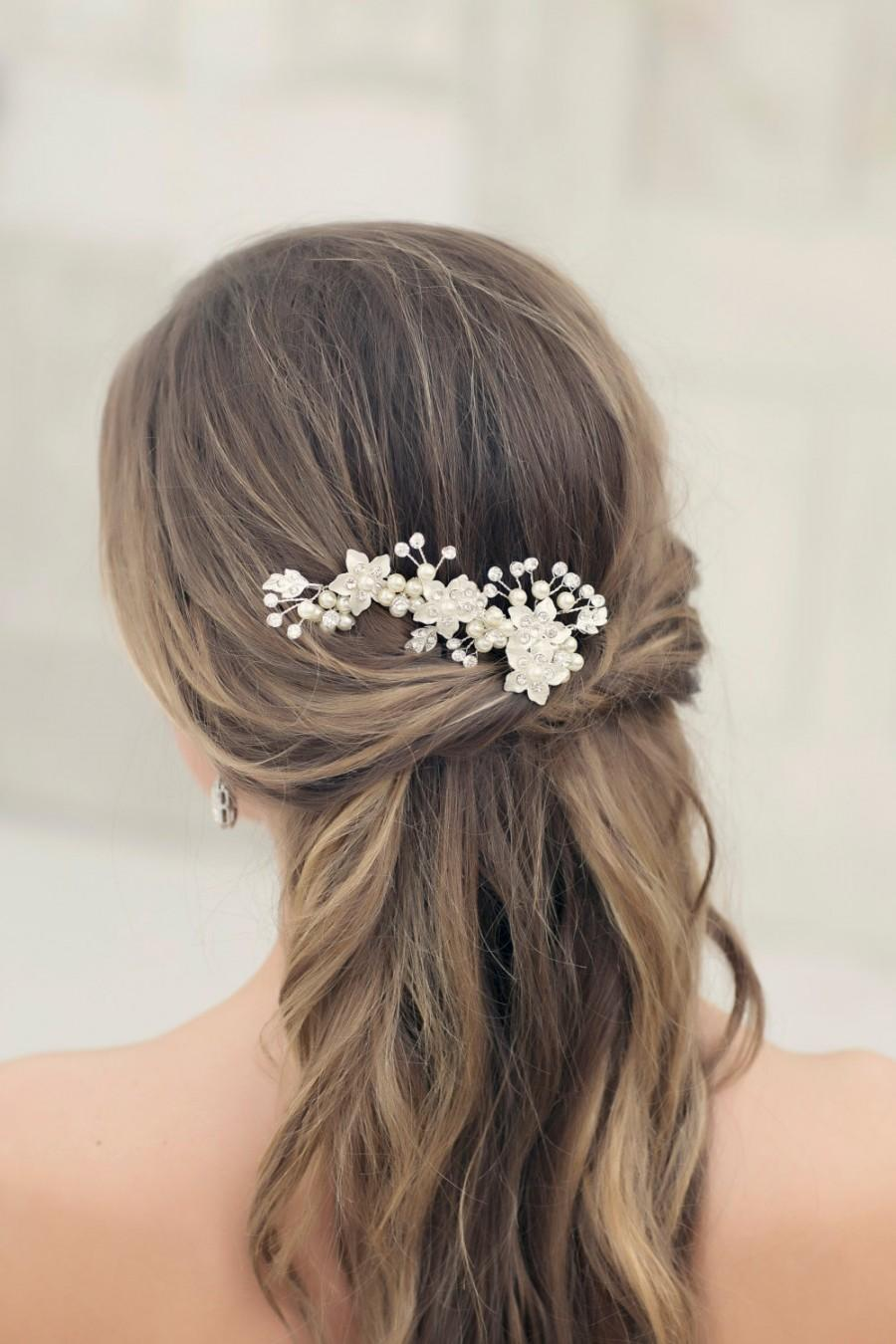 ready to ship crystal vine, bridal hairpiece, bridal headpiece