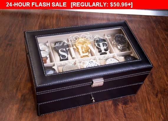 24 Hour Extra Large 20 Piece Watch Box Xl Slots