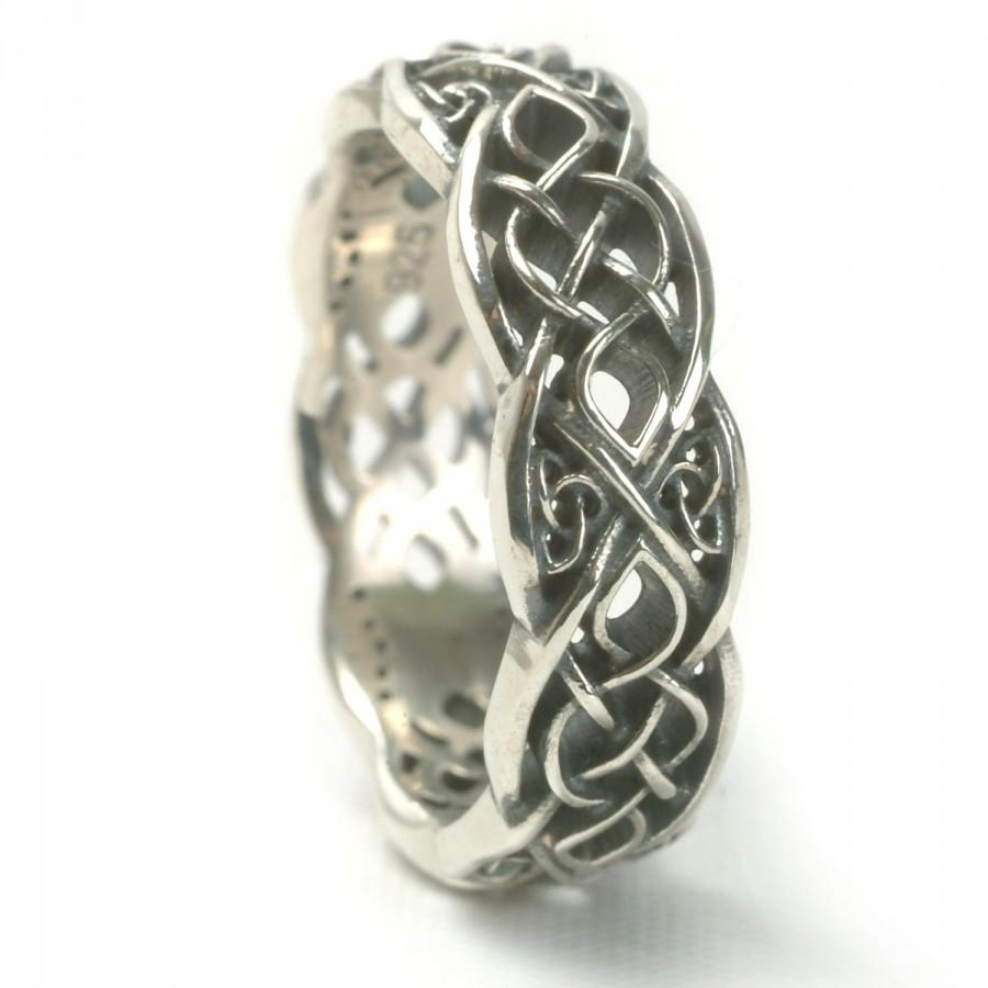 Infinity Wedding Band 925 Sterling Silver Celtic Knot Ring Unique Handcrafted In Your Size Cr1052