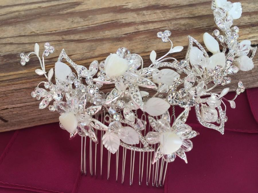 Mother Of Pearl Shell Wedding Hair Comb