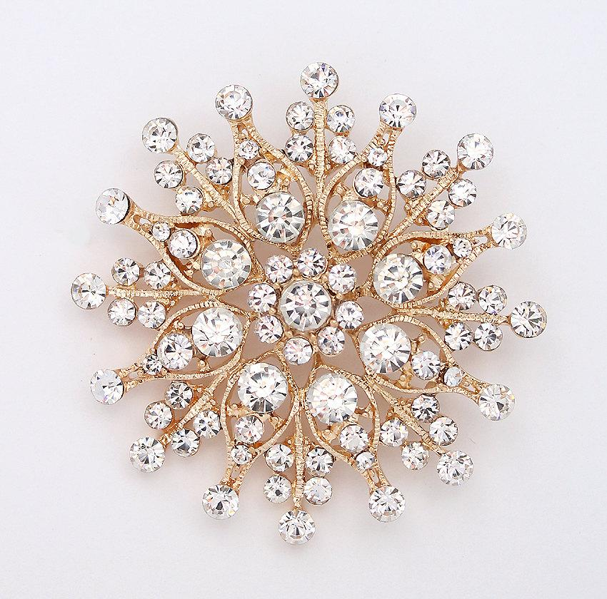 wedding cake brooches rhinestone gold brooch gold bridal jewelry gold bouquet 22107