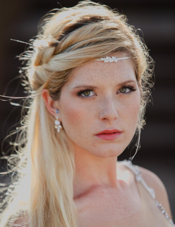 boho bridal headband wedding hair accessories boho head chain