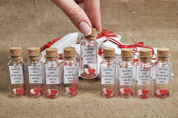 Wedding Favors Red And White For Thank You Gift Guests Oniere Gl Bottles