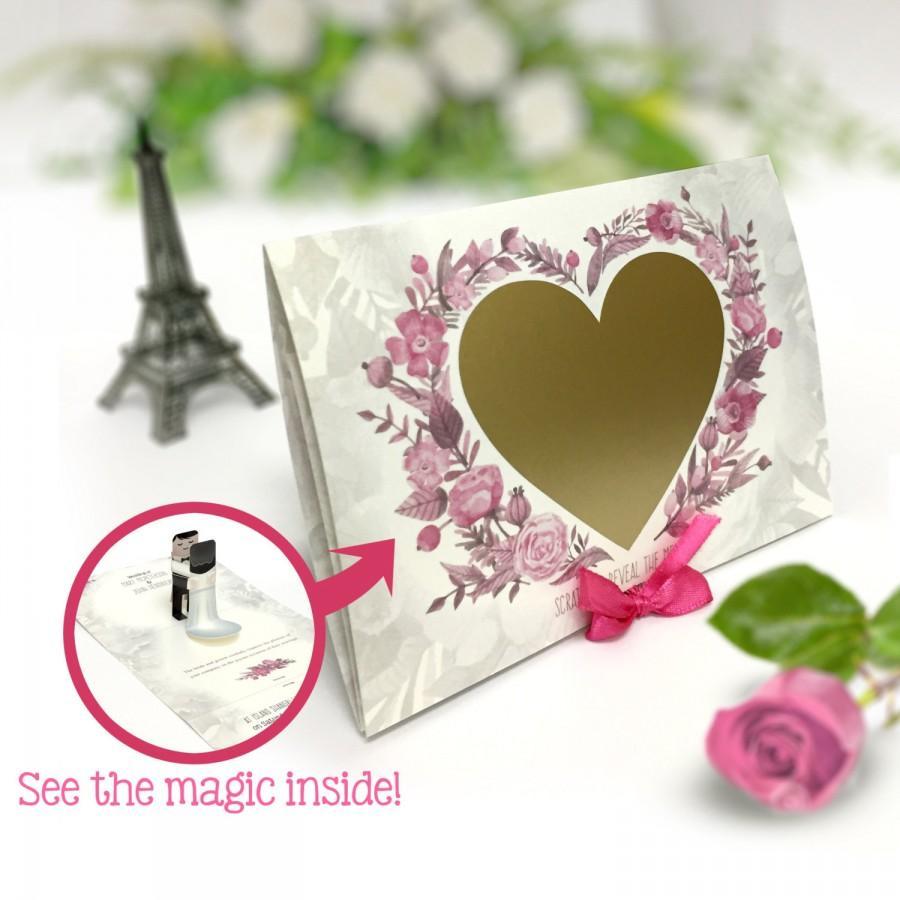 Wedding Invite Card Pop Up Bride Groom Scratch Off Invitation