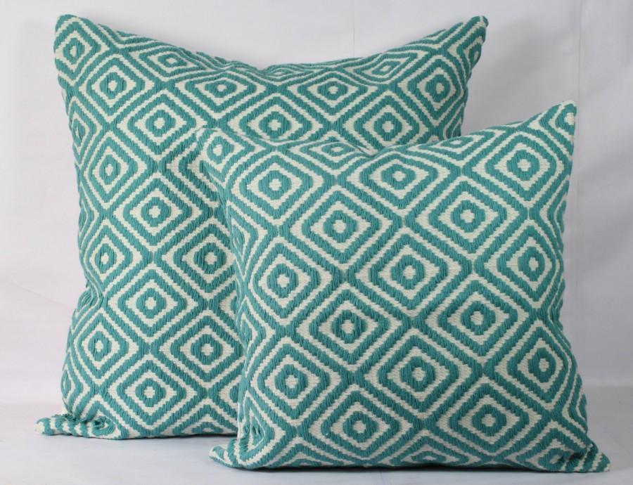 Teal Decorative Pillows Teal Throw Pillow Christmas Pillow Cover