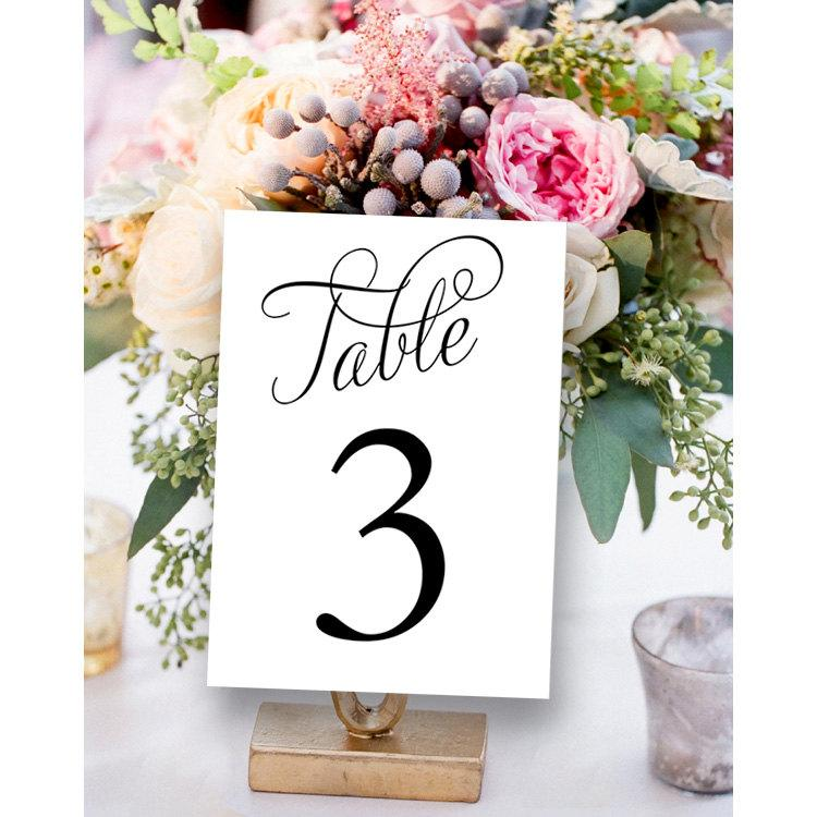 It's just an image of Printable Wedding Table Numbers with circle table