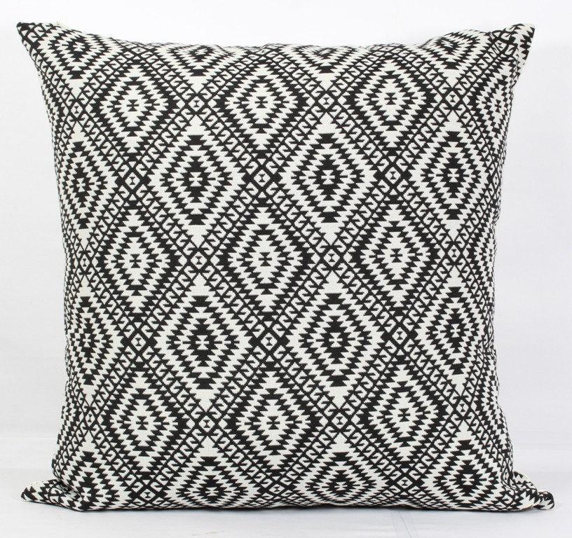 Black Pillow Cover 24x24 Throw Pillows Black And White Throw
