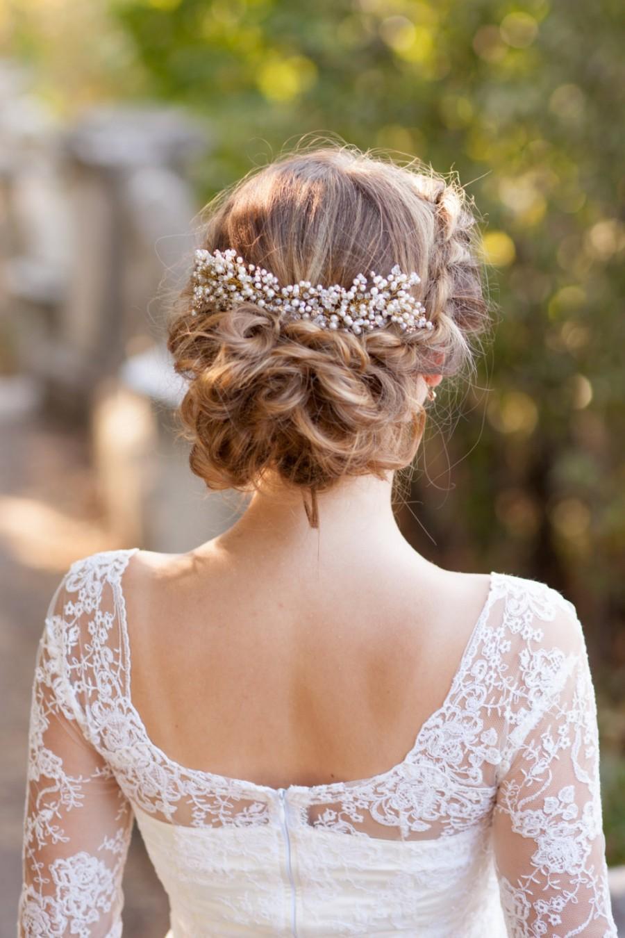 Wedding Hair Comb Pearl Bridal