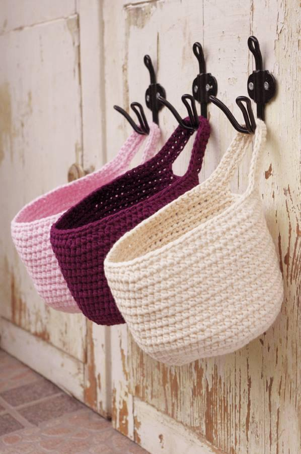 Small Hanging Basket Door Storage Bathroom Organizer Nursery Bath Organization For Home Decor