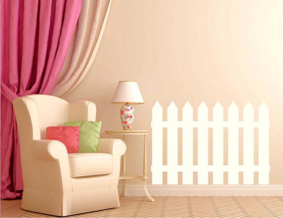 Nursery Wall Decal Picket Fence