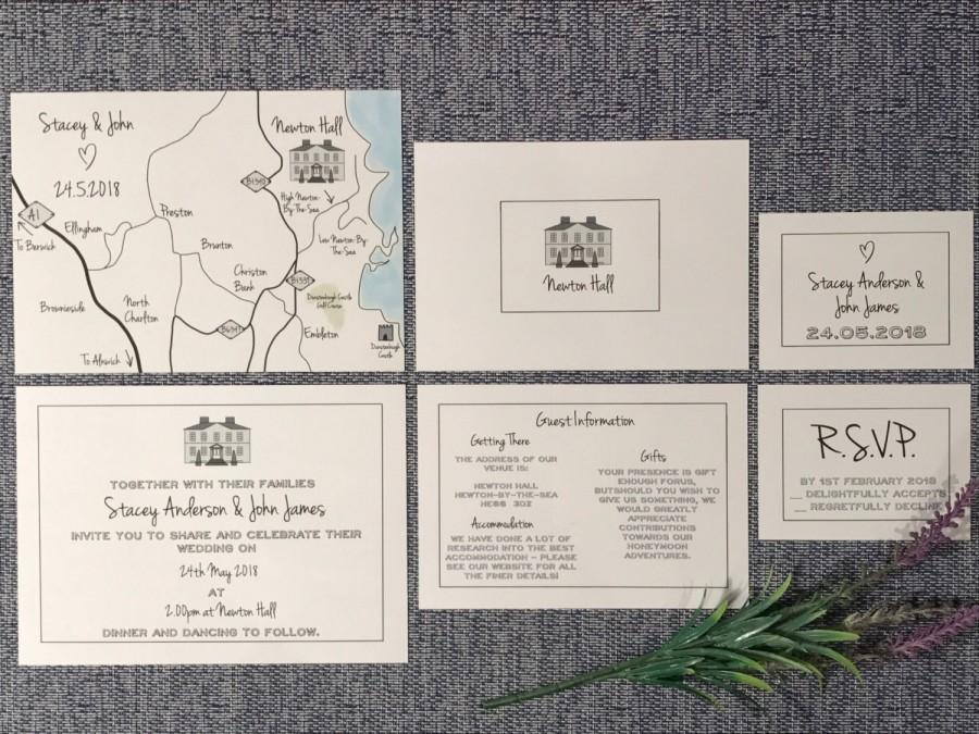Wedding Map Custom Invitation Venue Suite