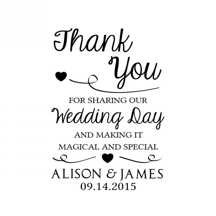 Custom Thank You Wedding Stamp Card Personalized Rubber Tags 2 X3 Cts28