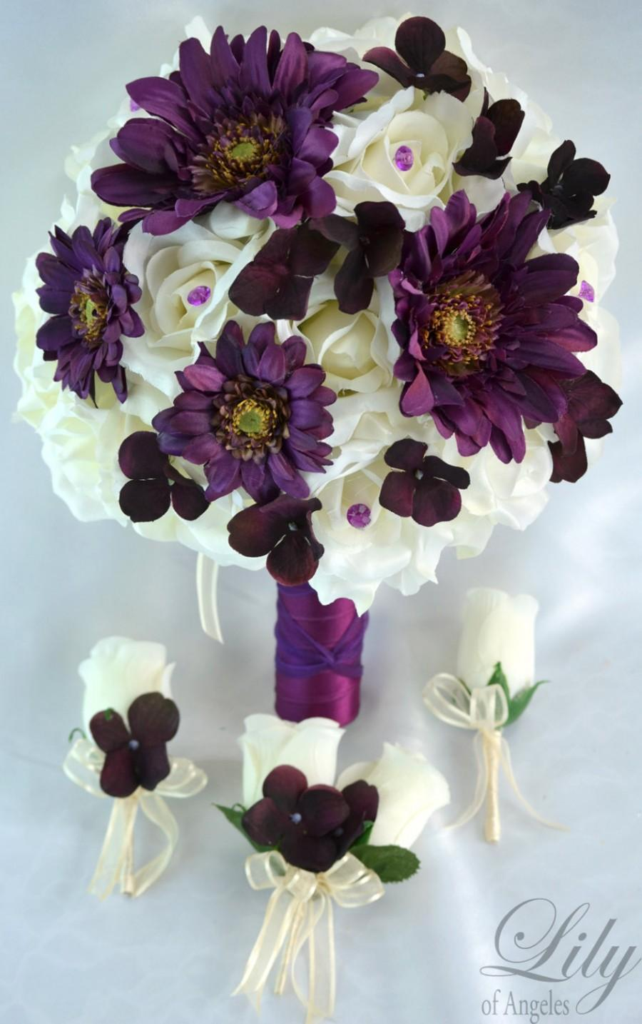 silk flower wedding bouquet packages 17 package silk flowers wedding bouquet artificial 7390