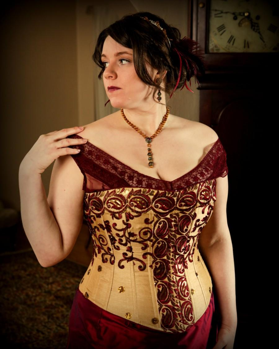 Corset Plus Size Wedding Bridal Custom Color Fabric Curvy Hourgl Lightly Boned Includes Free Ing And Mockup