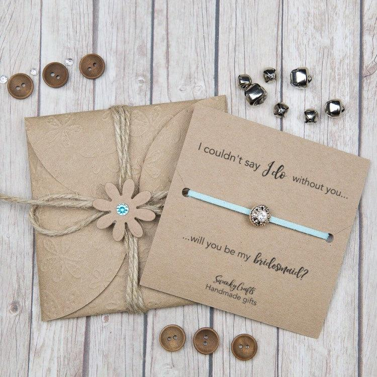 Bridesmaid Gifts Personalised Friendship Bracelets Will You Be My I Couldnt Say Do Under 10