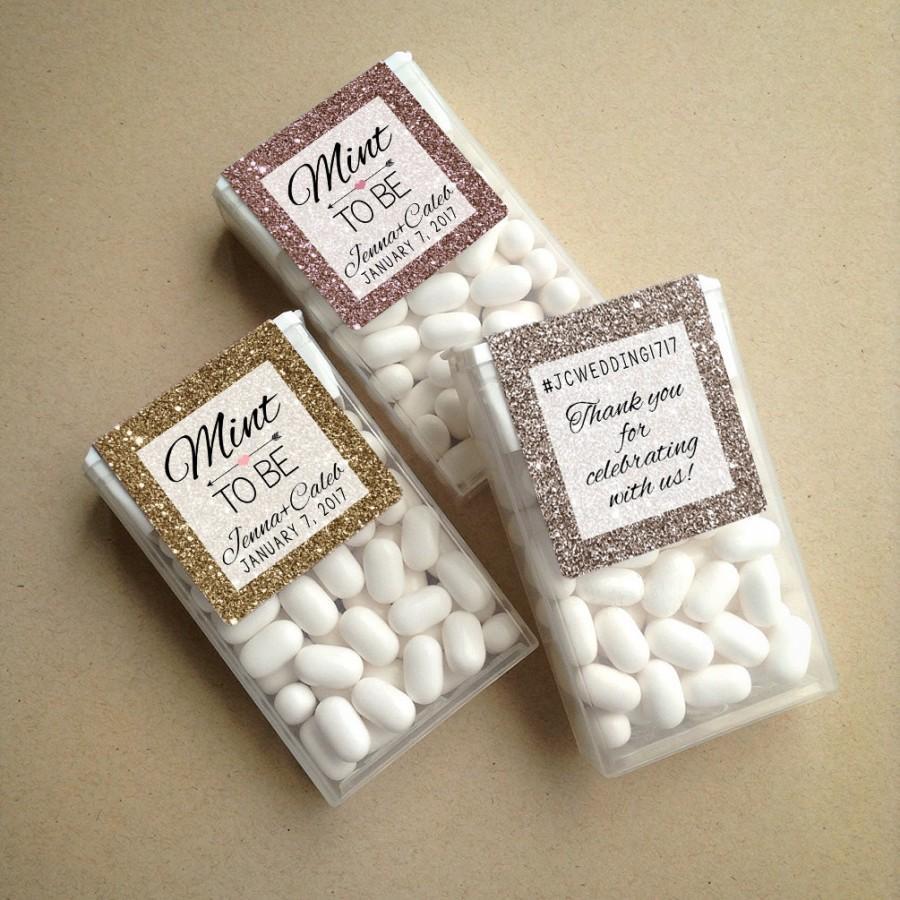 Wraparound Glitter Sparkle Mint To Be Tic Tac Favor Labels Mints Favors