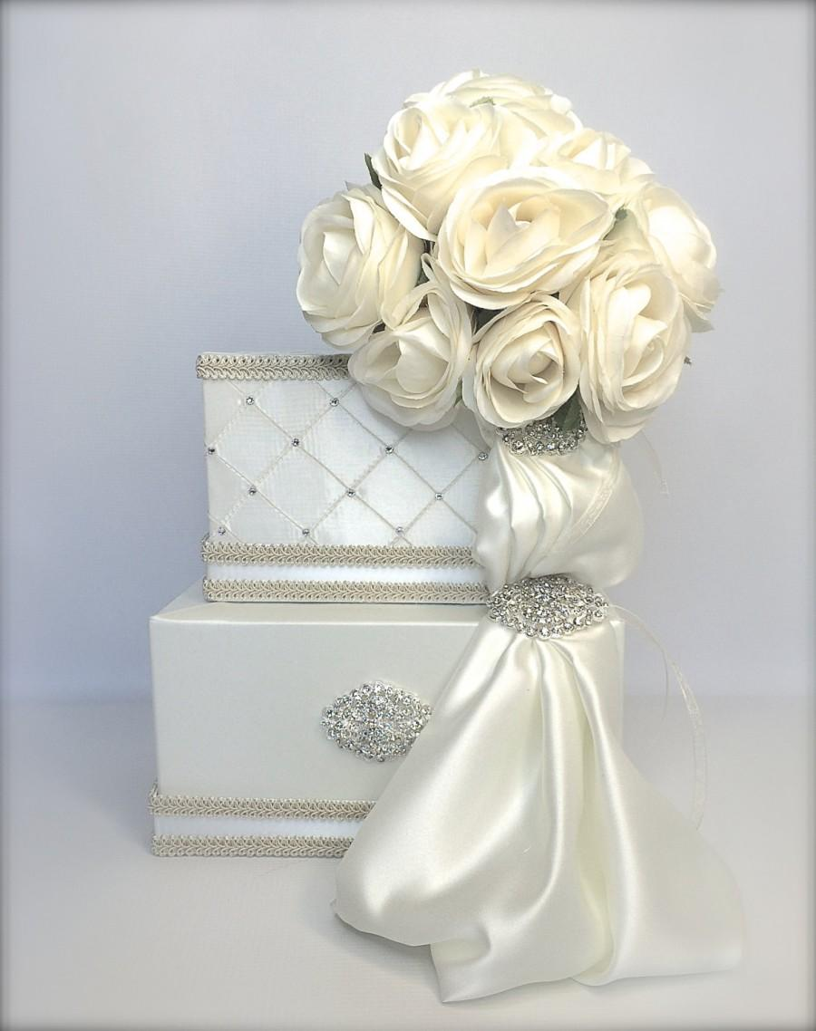 Wedding Card Box Bride S Bouquet Holder Custom Handmade Gift Bo