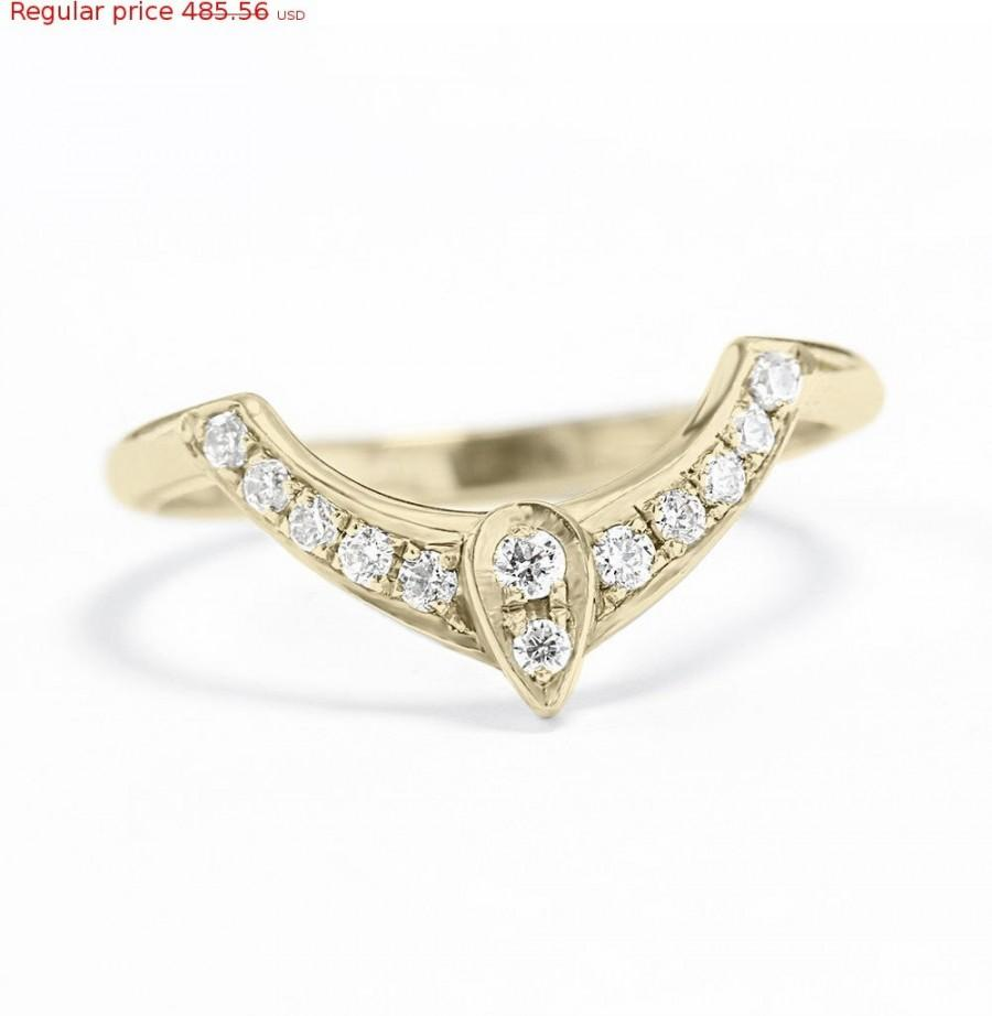 Third Eye Wedding Ring Diamond Engagement Gold Side Band Women Jew