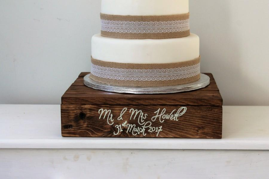 rustic wooden wedding cake stands wedding cake stand wooden cake stand personalised 19594