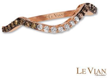Le Vian Chocolate Diamonds 1 5 Ct T W Diamond Contour Wedding Band In 14k Strawberry Gold