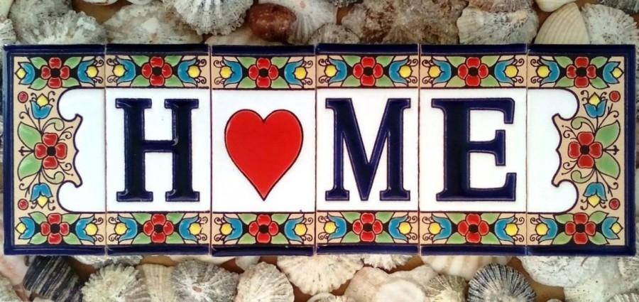 Vintage Spanish Ceramic Letter Tile Letters House Number Text 1pc