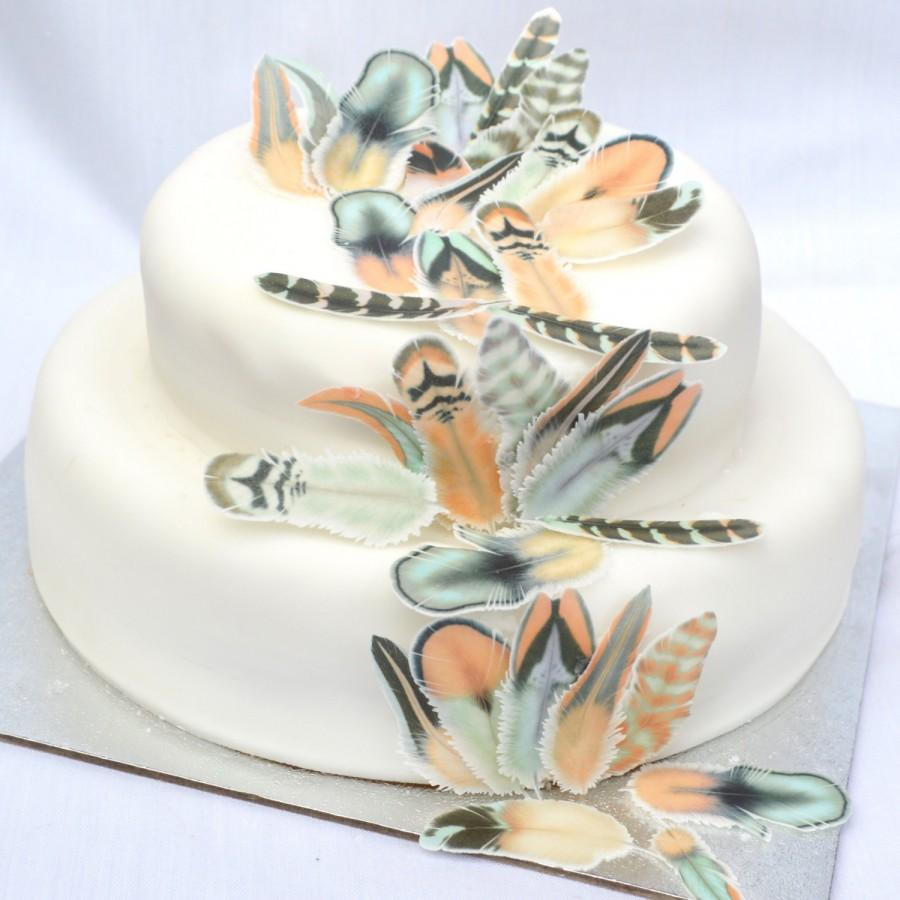rice paper feather wedding cake edible feathers chocolate orange boho wedding cake 19224