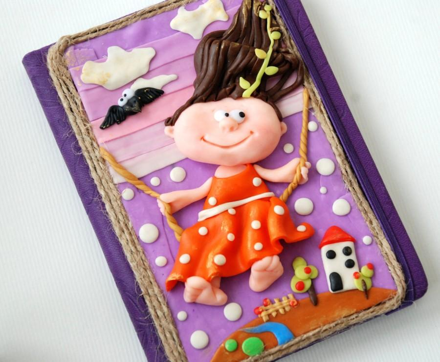 Handmade Notebook Polymer Clay Spring Is Coming Journal Personal Diary Writing Memory Book Unique Gift For Her Best Friend Joy