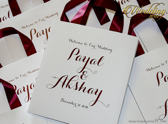 100 Wedding Welcome Bags With Satin Ribbon And Names White Burgundy Elegant Personalized Paper Bag Custom Gift Hotel
