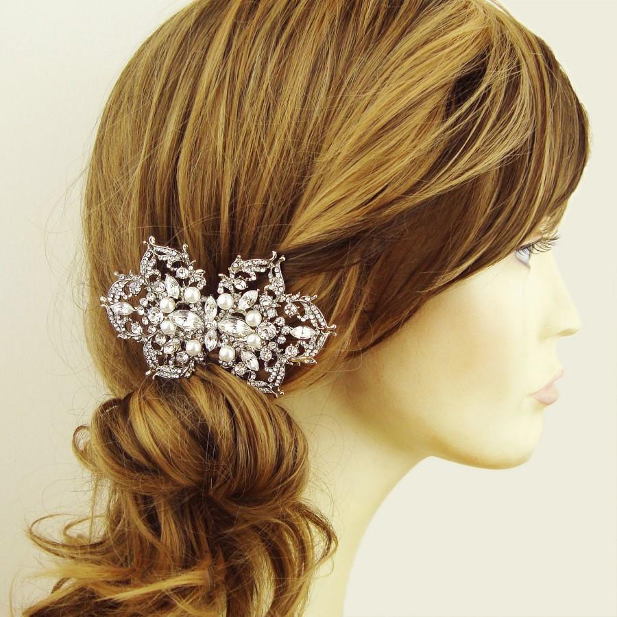 half price sale- pearl bridal hair comb, wedding hair comb