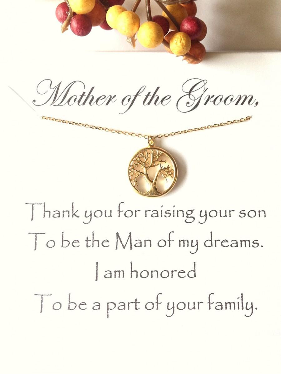 Mother Of The Groom Gift Thank You For Raising Man My Dreams In Law Wedding Future Mom Mil To