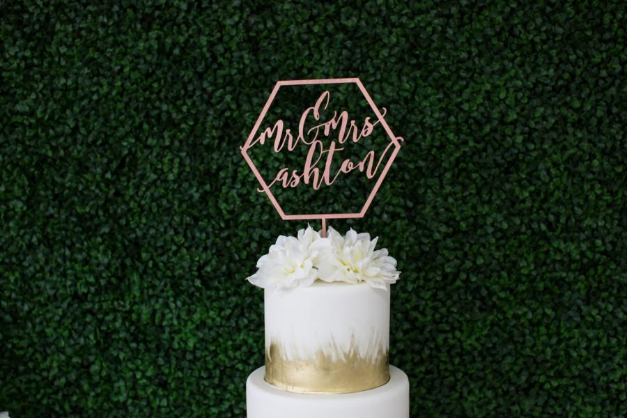 wedding cake toppers orange county ca laser cut geometric mr amp mrs wedding cake topper one 26566