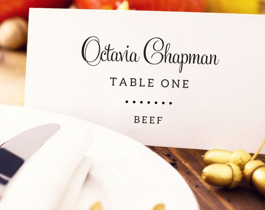 Wedding Place Card With Meal Choice Template Editable Option Custom Personalized Seating Printable 8 00 Usd
